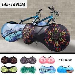 139cm a 170cm preto ciclismo bicicleta assento traseiro capa de carga à prova de chuva saco rack proteção poeira