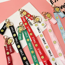 New Tide Brand Letters Smiley Face Red Color Badge Holder Lanyard Straps Wrist Neck Mobile Phone Shell Accessories Gifts--SWK(China)