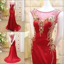 New Design 2017 Beading Crystal Flowers Arabic Muslim Gowns Evening Dresses  Custom Made Elegant Free Shipping GX42 bdd29cbb4524