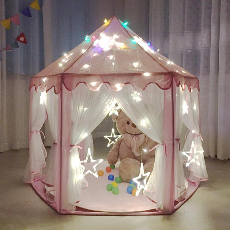 Foldable Princess Folding Baby Toy Tents Children Portable Castle Activity Play House Kids Gift Outdoor Fun Beach Tent For Kids new arrival portable kids play tents folding indoor outdoor garden toys tent castle pop up house for children chiristmas gift