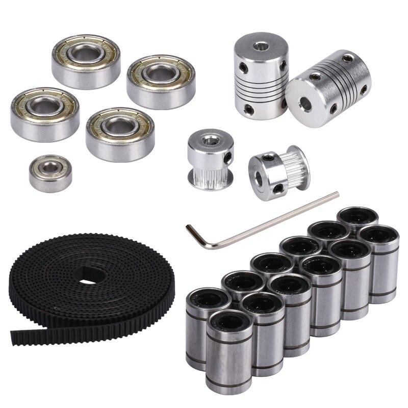 3d Printer Reprap Prusa I3 Movement Kit GT2 Belt Pulley 608zz Bearing Lm8uu 624zz Bearing