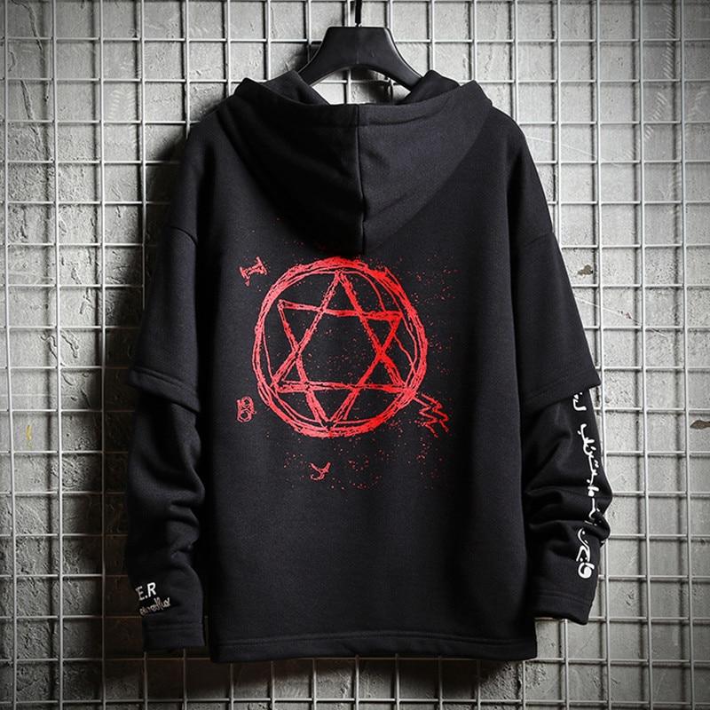 Men's Clothing Methodical Hip Hop Men Hoodies Sweatshirt Autumn Cotton Black Male Streetwear Tops Soft White Loose Hooded Pullover Harajuku Tracksuit Coat