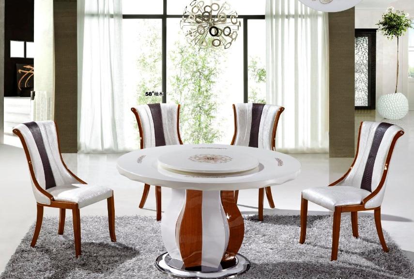 Mesas redondas modernas de comedor a la moda