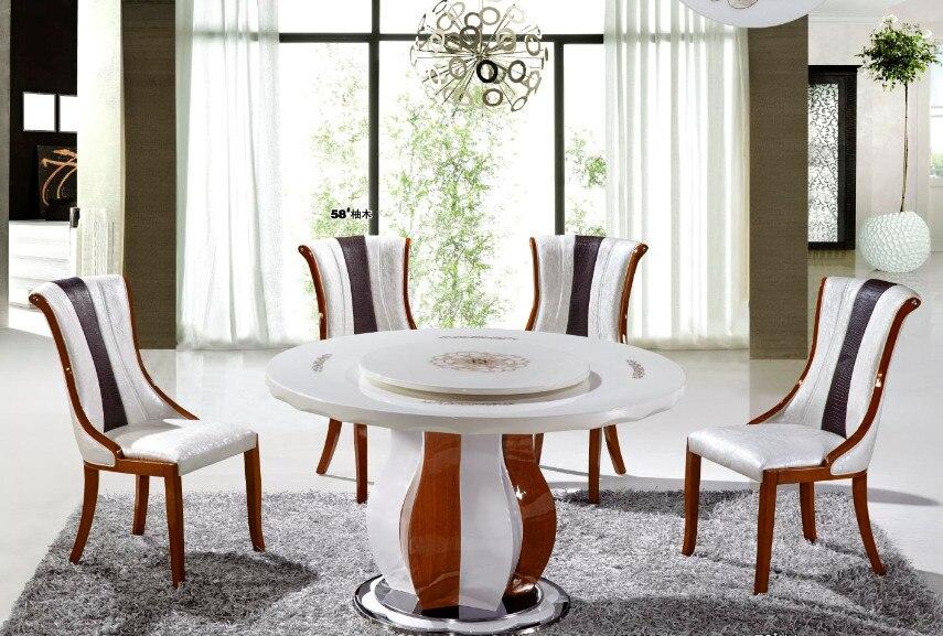 Mode Moderne Salle A Manger Tables Rondes Dans Table De Salle A