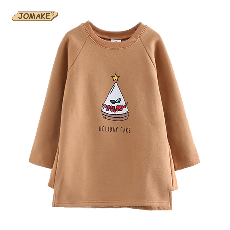 Baby Girls Long Sweatshirt Dress Fashion Brand Fleece Dress O-Neck Cartoon Letter Kids Clothes Toddler Girl Clothing 2017 Autumn girls tshirt brand hollow sleeveless o neck baby girl shorts solid elastic waist 2 pieces kids clothes girls 2792w