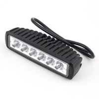 18W 6LED Light BAR FLOOD BEAM Work Driving OFF ROAD Snowmobile 4WD BOAT Super Deal Inventory