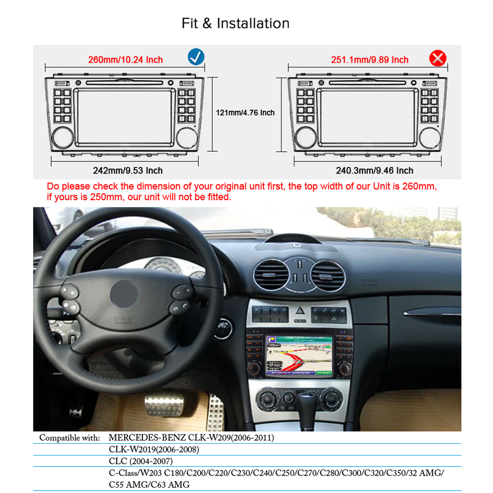 hight resolution of a sure android 7 1 dab dvd sat nav gps radio player for mercedes benz c class w2019 w209 amg clk clc wifi 4g navigation bt in car multimedia player from