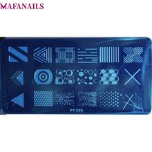 1Pc Nail Image Plate 6*12cm Geometryic (Line & Dots) Art Stamp Template Image Plates Polish Stamping Nail Art Tools #XY-Z-23# фотоальбом image art sp21 w020