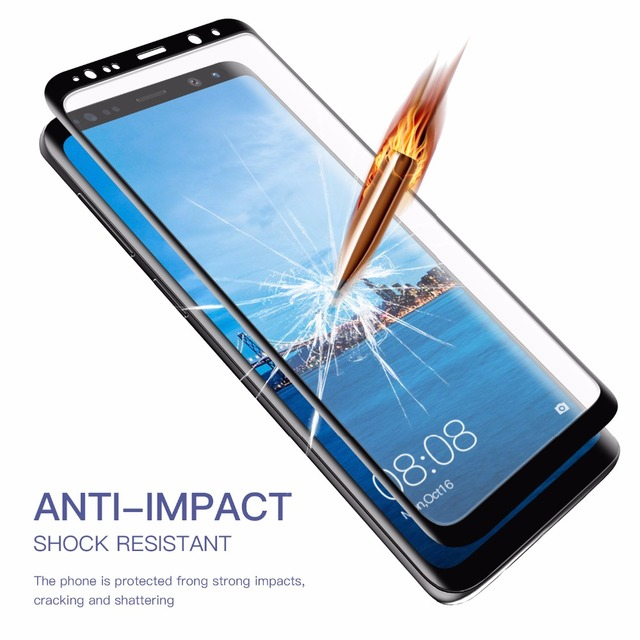 MYRIANN 3D Curved Fullcover Tempered Glass For Samsung Galaxy S9 Plus