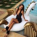 250 cm gigante Pegasus unicornio Ride-On natación anillo inflable Piscina Flotador para mujeres colchón de aire playa agua juguetes Piscina boia