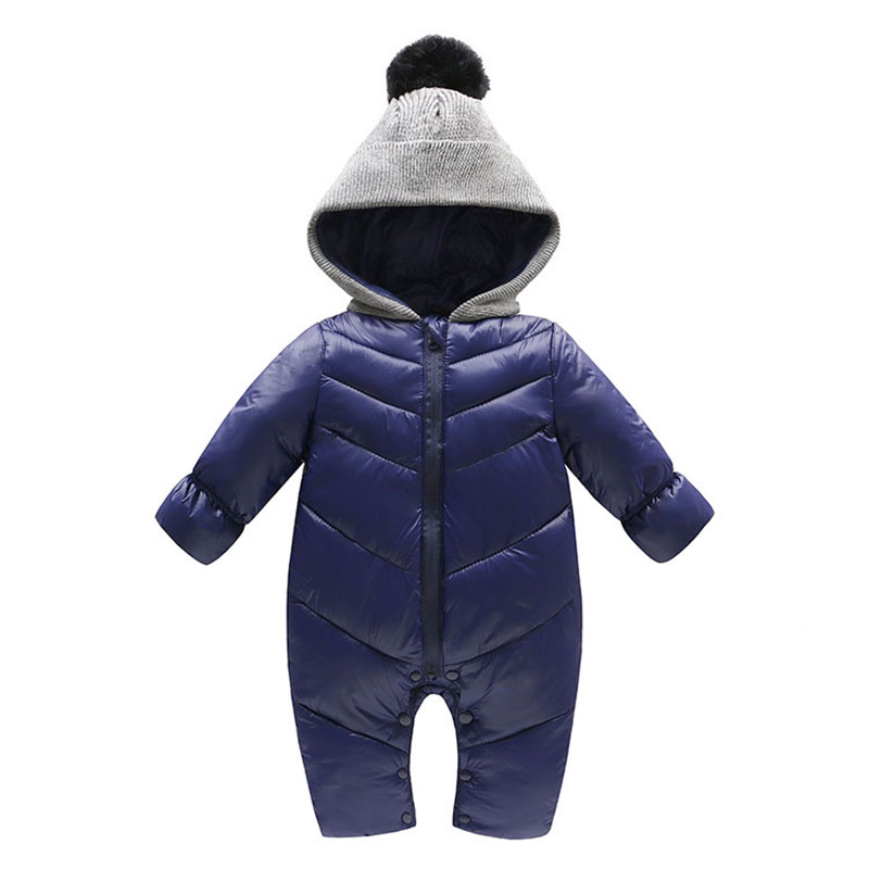 Fashion Winter Warm Rompers for Newborns Baby Boy Girl Outerwear Toddler Cotton Clothing Baby Snowsuit Jumpsuit Hooded Romper winter baby rompers organic cotton baby hooded snowsuit jumpsuit long sleeve thick warm baby girls boy romper newborn clothing