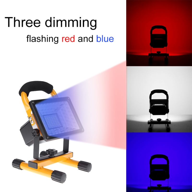 цена на Waterproof IP65 24 LEDs 3 models 30W LED Flood Light Portable SpotLights Rechargeable Outdoor Camping LED Work Emergency light