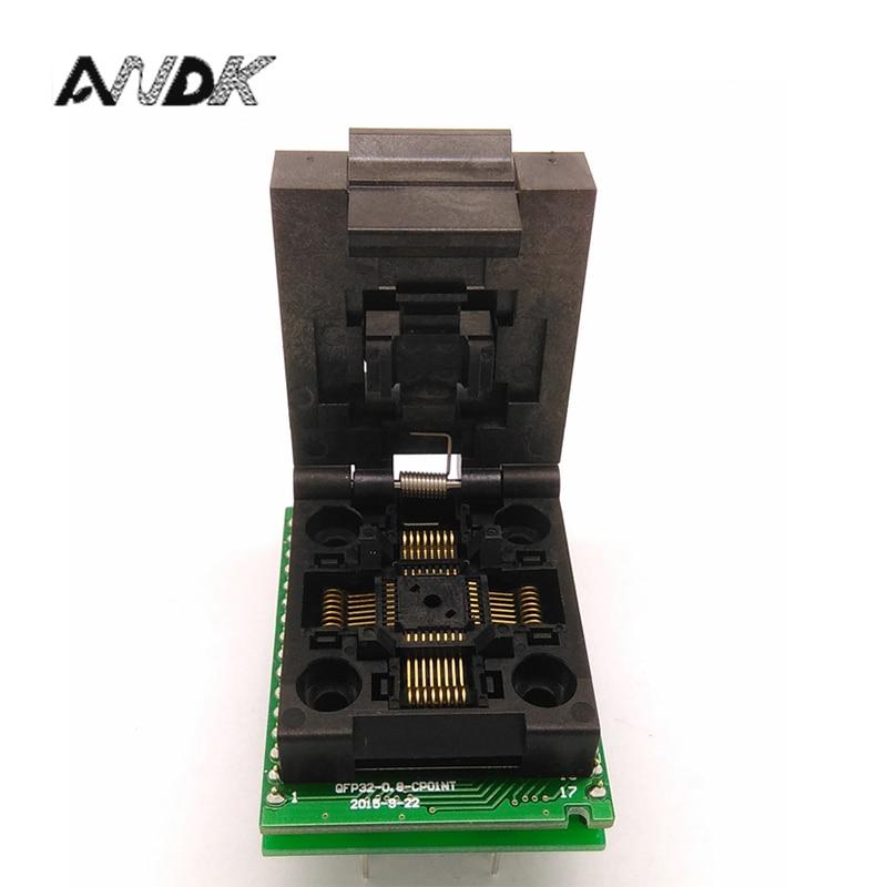 Free shipping TQFP32 QFP32 LQFP32 TO DIP28 adapter socket support ATMEGA8 ATMEGA8A ATMEGA328 AVR MCU TL866A TL866CS стоимость