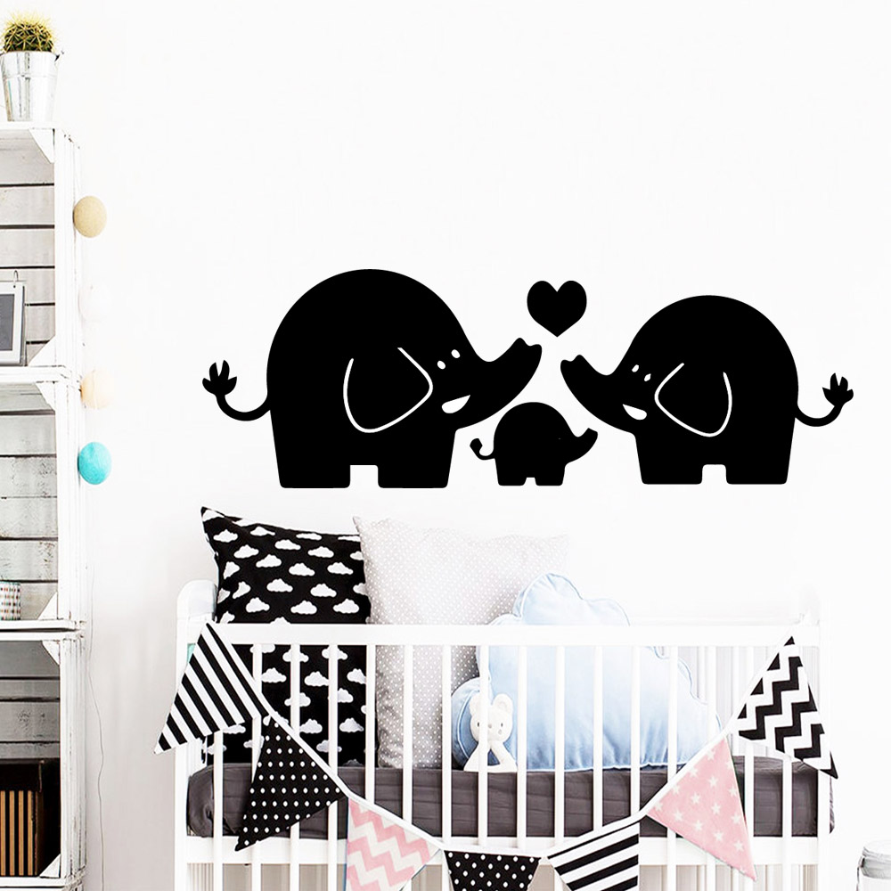 Pretty baby elephant Vinyl Decals Wall Stickers For Baby Kids Rooms Decor Art