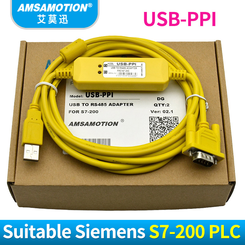 USB-PPI Programming Cable USB to RS485 Adapter For Siemens S7-200 PLC Download Cable