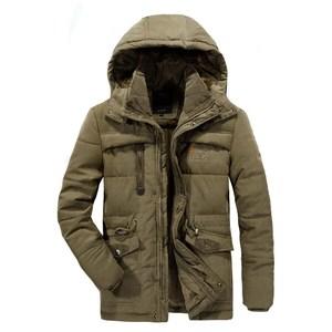 Image 3 - Mannen Winter Jas Dikke Warme Parka Fleece Fur Hooded Militaire Jas Katoen Jas Sneeuw Weer Mannelijke Windjack Jassen Plus Size