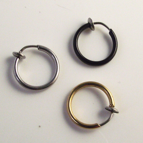 Фото поддельное кольцо для носа goth punk 2 шт губ ушей и зажим пирсинга цена