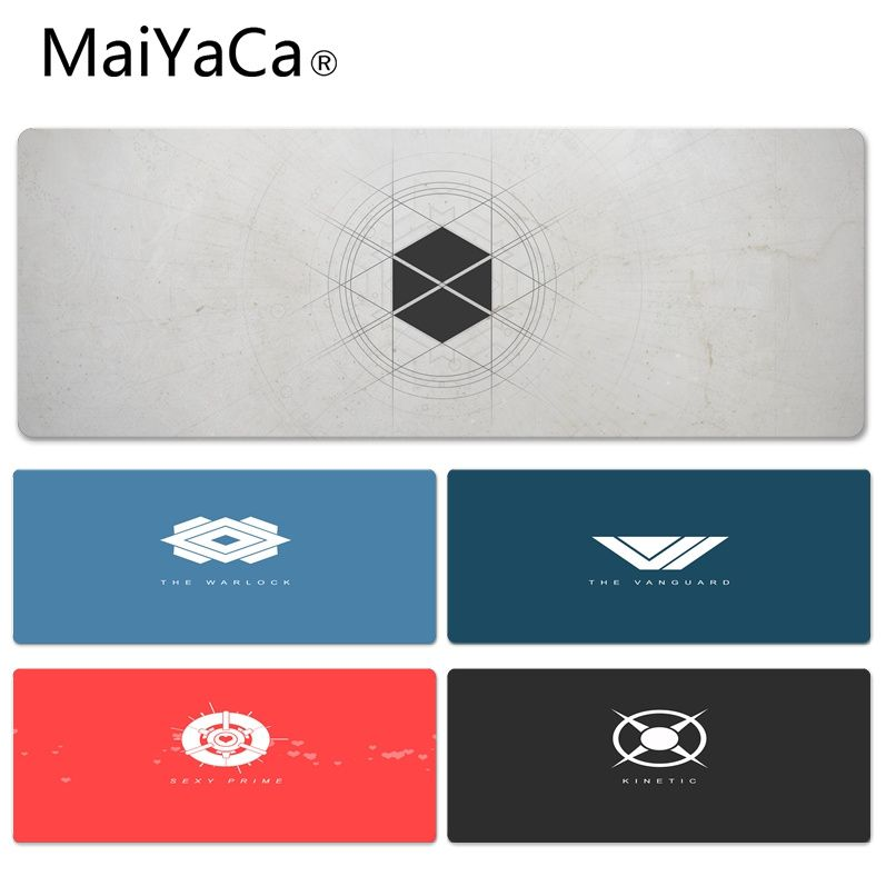 MaiYaCa Cool New Destiny Icon High Speed New Lockedge Mousepad Size for 30x70cm 30x90cm Rubber Rectangle Mousemats