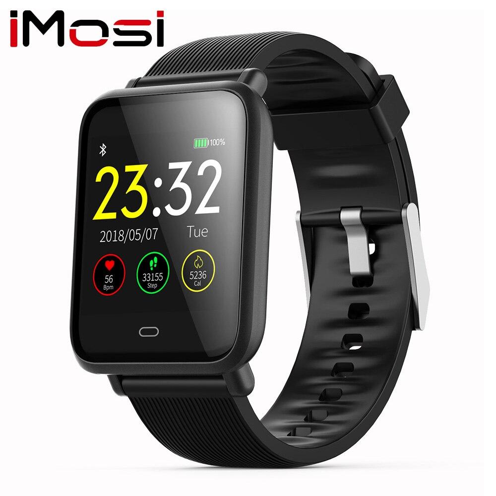 Imosi Q9 Blutdruck Herz Rate Monitor Smart Uhr IP67 Wasserdichte Sport Fitness Trakcer Uhr Männer Frauen Smartwatch