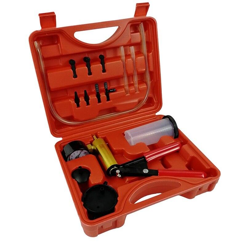 VicTsing 2 in 1 Car Handheld Vacuum Pressure Pump Tester Set Brake Fluid Bleeder Bleeding Kit DIY Brake Pressure Vacuum Gauge (1)
