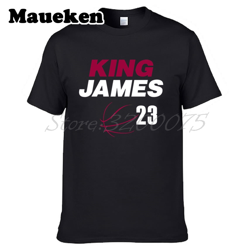 Man MVP LeBron James 23 Kings Champions Cleveland T shirts cartoon LBJ  Short Sleeve T shirt Casual W1111033-in T-Shirts from Men s Clothing on ... 56c054f3cc43