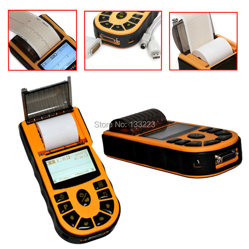 CONTEC ECG80A -Hand-held ECG machine  With Free PC based Software Heal Force  Advanced Handheld ECGMonitor Mini Portable LCD heal force advanced handheld eg monitor mini portable lcd electrocard free software 80a holter machine medical equipment