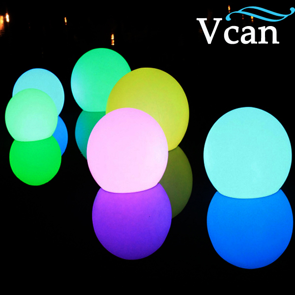 35cm Multi color Changing battery charge Night Light LED garden Ball  VC-B350 3d tiger shape led color changing decorative night light