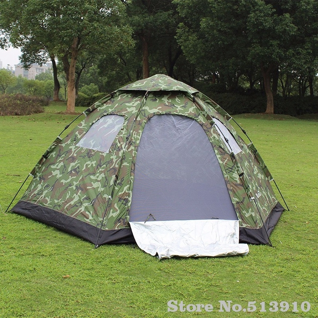 Fully-automatic outdoor c&ing tent tourism tents 5 - 8 hexagonal big tent camouflage large : tents at big 5 - memphite.com