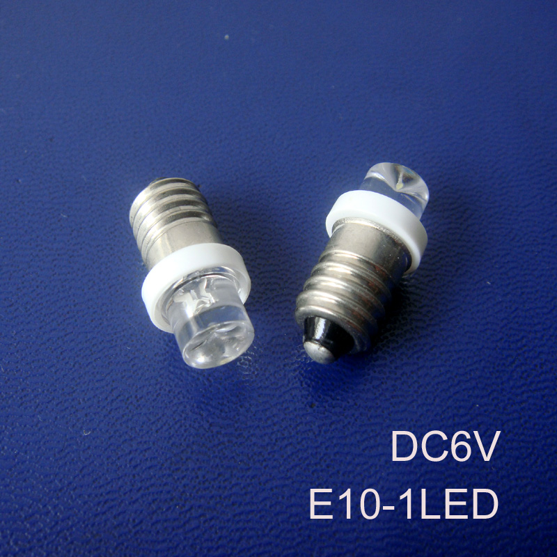 High quality 6V E10 led signal lights,E10 6.3v led Pilot lamps LED E10 Indicator Light,led bulb E10 6.3V free shipping 20pcs/lot