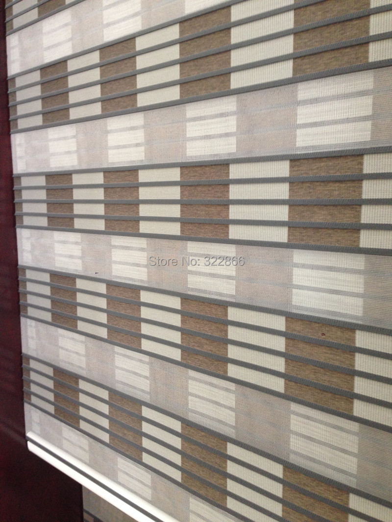 Free Shipping Zebra Blinds Roller Blinds Rainbow Window Blinds Customized Size 7 Colours China