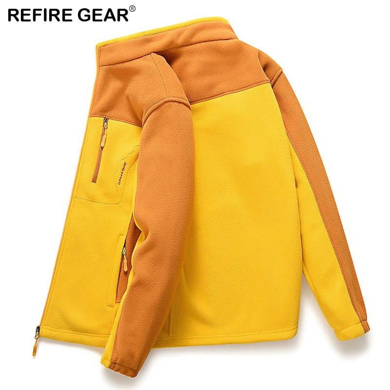 ReFire Gear Autumn Fleece Jacket Women Men Liners Warm Thermal Outdoor Jackets Hiking Camping Climbing Fishing Trekking Jacket