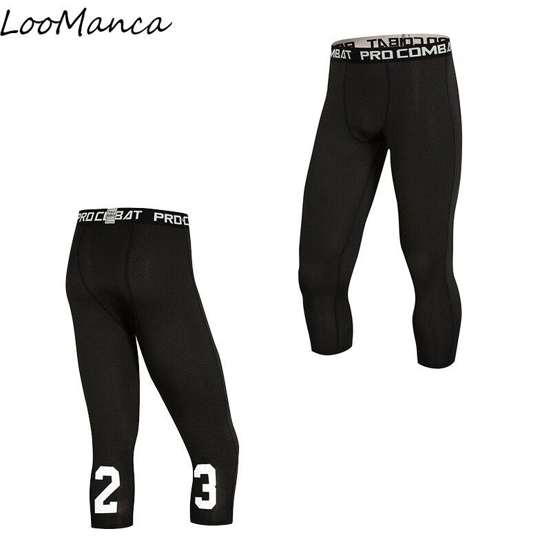 Running Leggings Tights-Pants Compression Fitness Ports New Summer Men Elastic Quick-Dry