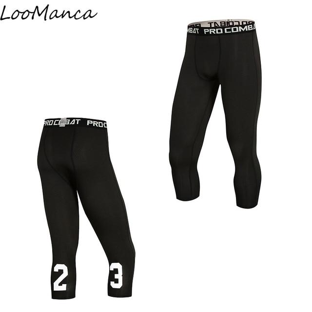 95da9a80bc Compression Basketball Tight Pants New 2018 Summer ports Tights Pants  Elastic Quick Dry Men Fitness Running