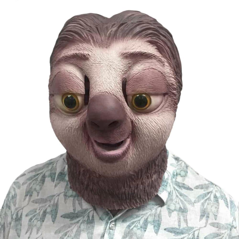 1 stücke Lustige Zootopia-Halloween Maske Tier Sloth Kopf Partyschablone Festival Partei Liefert Cosplay Partei Liefert