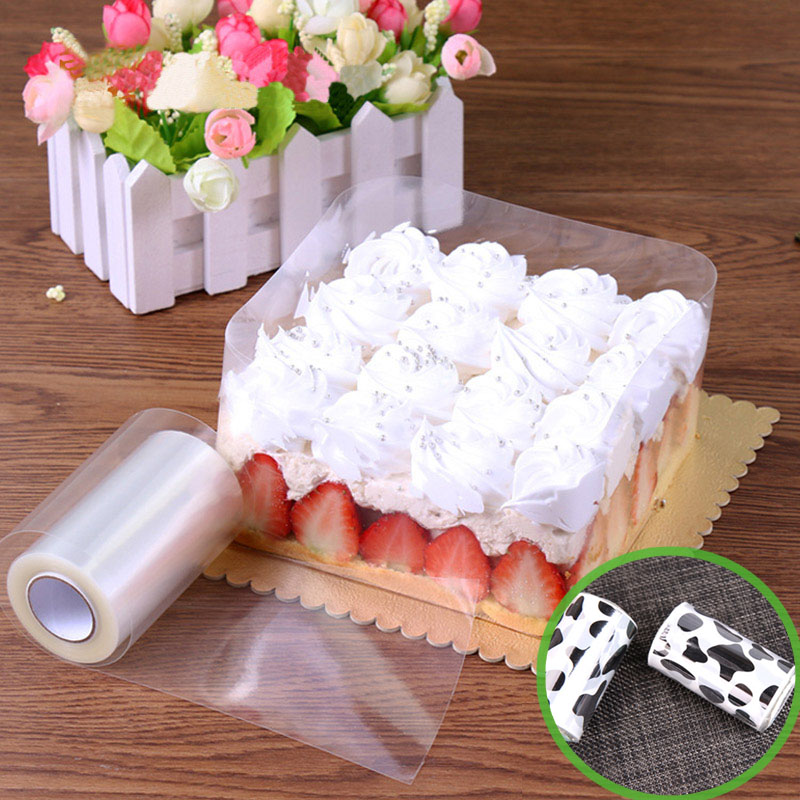 Dessert Band Decorative-Sheet Cake-Edges Surrounding Hard-Bounded Transparent Mousse
