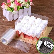 Gadgets de cozinha envolvendo fita bolo colar rolo embalagem 10m mousse borda circundante transparente claro acessórios de cozimento