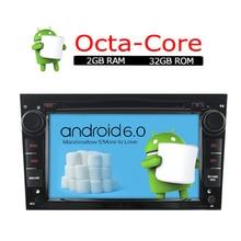 A-sure Android 6.0 Radio DVD GPS para OPEL Astra Vectra Vivaro Meriva Zafira Antara con 8 core CPU 32 GB ROM DAB + RDS SWC