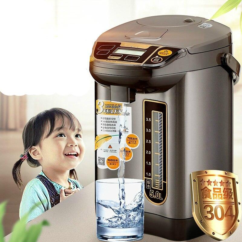 Garrafa térmica chaleira garrafa de água elétrico chaleira isolamento automático integrante 304 chaleiras de aço inoxidável casa de Proteção Anti-seca