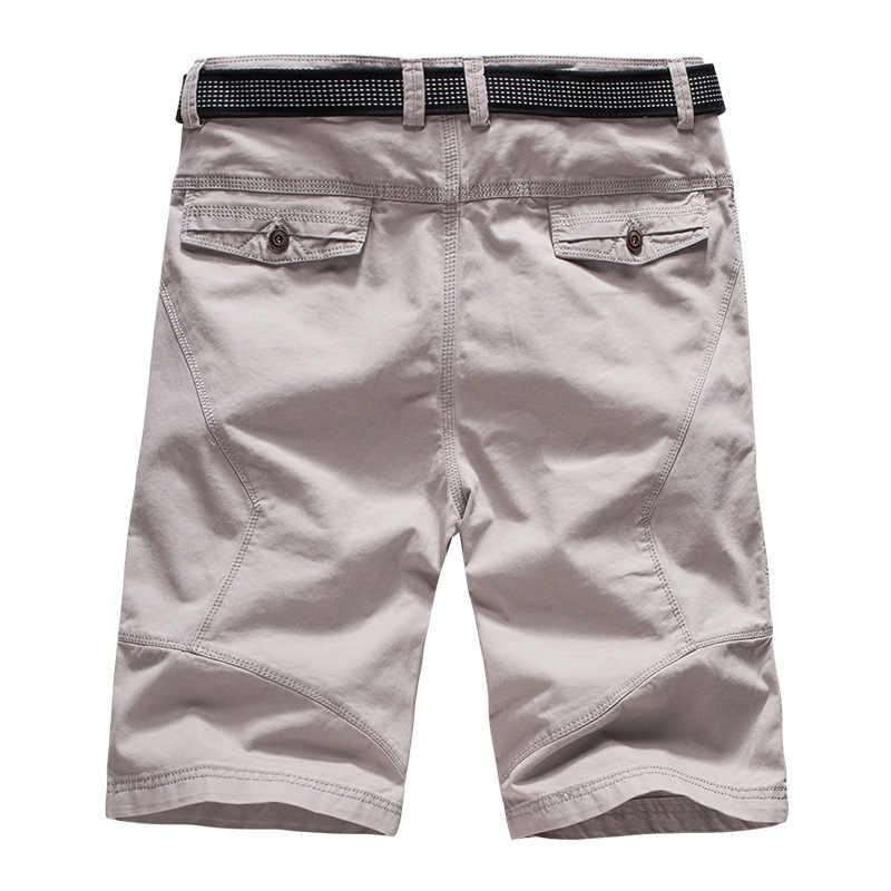 Летние мужские шорты Карго 2019 брендовые зеленые армейские военные тактические шорты мужские хлопковые свободные рабочие повседневные короткие брюки без пояса