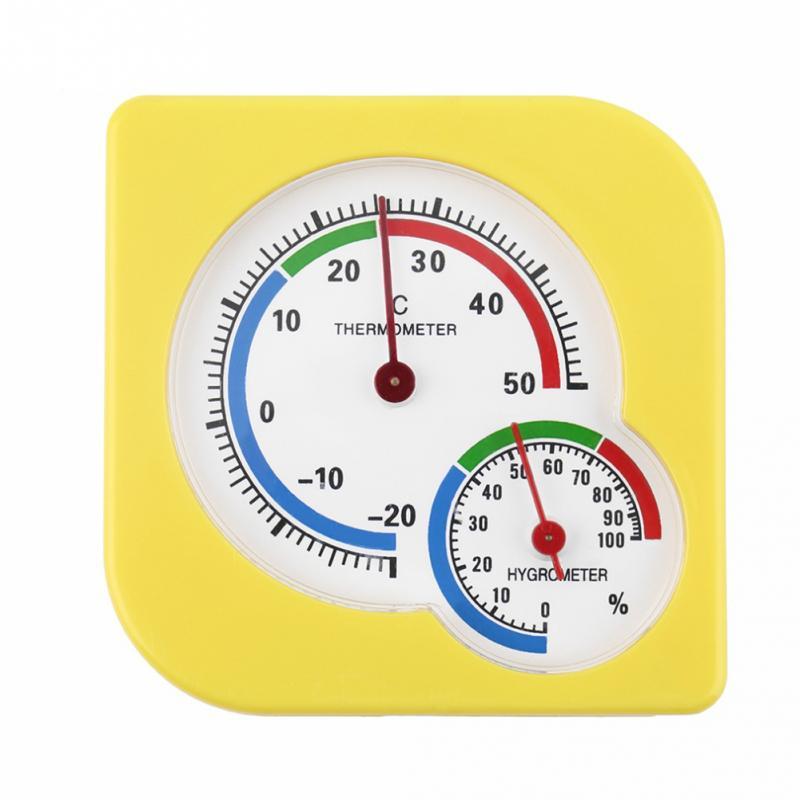 Analysatoren Universal Indoor Freien Nass Hygrometer Feuchtigkeit Thermometer Temp Temperatur Meter Gelb Mechanische Thermometer Messung Und Analyse Instrumente