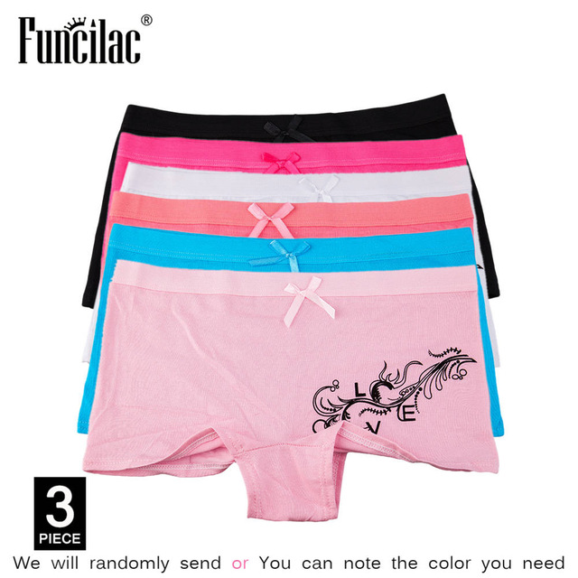 fab62c9097 Dropwow FUNCILAC Underwear Women Sexy Boyshort Letter Love Butterfly ...