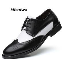 Misalwa sapato masculino de couro, sapato estilo oxford elegante para homens, tamanho grande 38 48 calçados masculinos