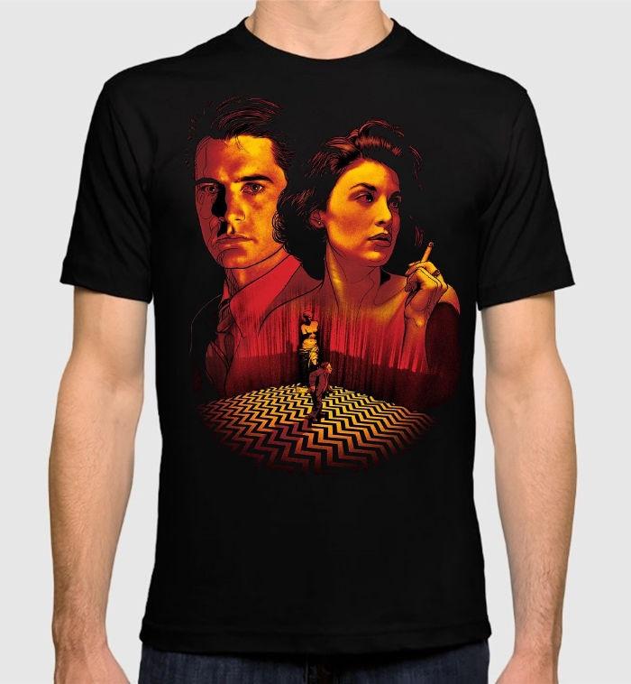 Fashion 2018 Summer Twin Peaks Mens Womens T-Shirt David Lynch Black New Cotton Tee Summer Style Casual Clothing