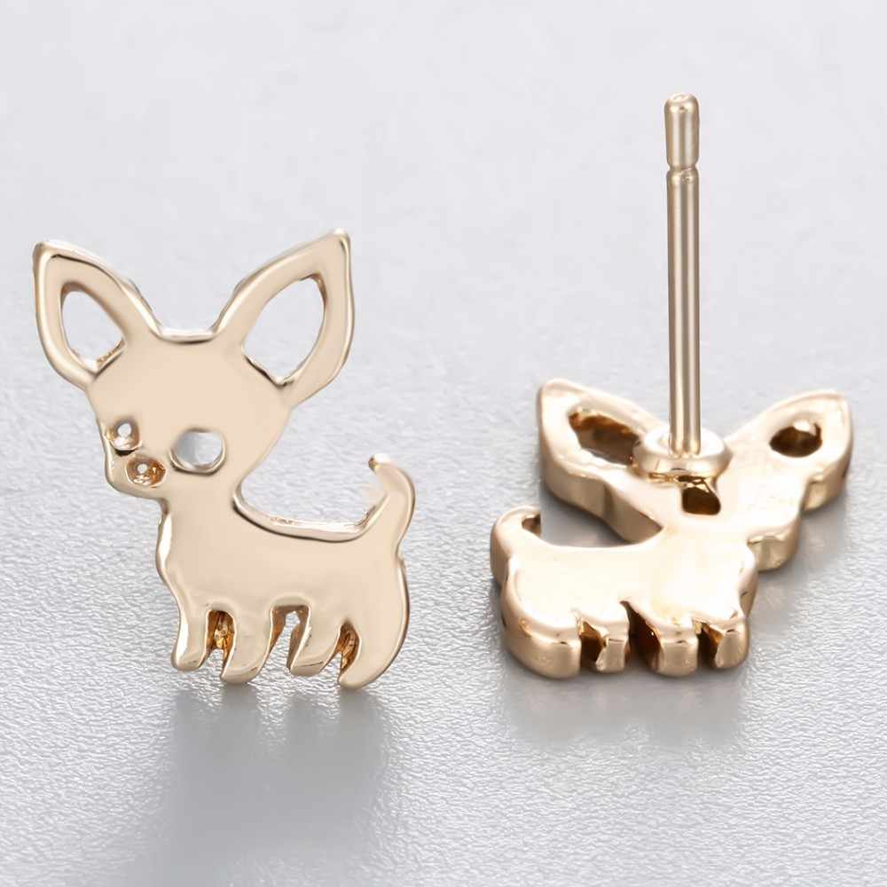 Cxwind New Animal Chihuahua Baby Dog Earring Mickey Cat Rabbit Bat Studs Earrings Accessories Jewelry For Kids Girls Cute Gift