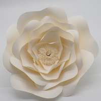 1 Piece Ivory 40CM Cardstock Giant Paper Flower For Wedding Backdrops Windows Display Kids' Room Decorations
