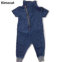 2018 New Super Soft Denim Spring And Autumn Baby Baby Jumpsuit Irregular Clothes Romper