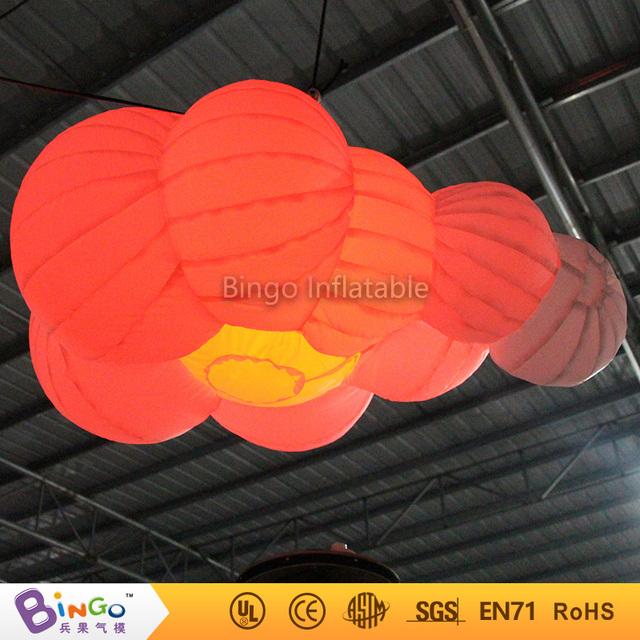 Parte decoración colgante de iluminación led nube 1.6 metros inflable Juguetes del Light-Up