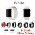 Белая Кожа Петля Для Apple Watch Ремешок Из Натуральной Кожи Цепи Группа Для Apple Watch Band Новый Цвет