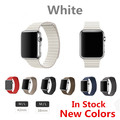 White Leather Loop For Apple Watch Strap Genuine Leather Loop Band For Apple Watch Band New Color