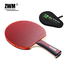 1pc Boll Pimples In Rubber 7 layer Ayous Wood Offensive Table Tennis Rackets Short Long Ping-Pong Bat Pad